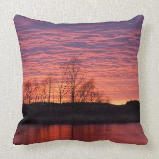 Brilliant sunset reflects into the Calamus River Cushion