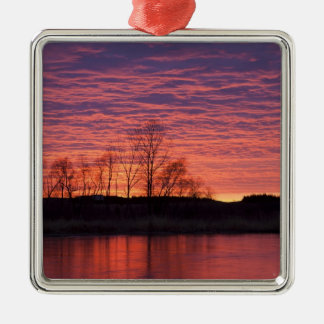 Brilliant sunset reflects into the Calamus River Christmas Ornaments