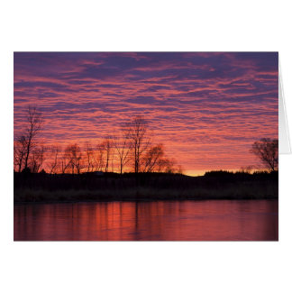 Brilliant sunset reflects into the Calamus River Greeting Card