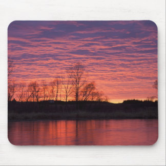 Brilliant sunset reflects into the Calamus River Mouse Pad
