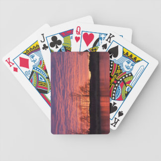 Brilliant sunset reflects into the Calamus River Poker Deck