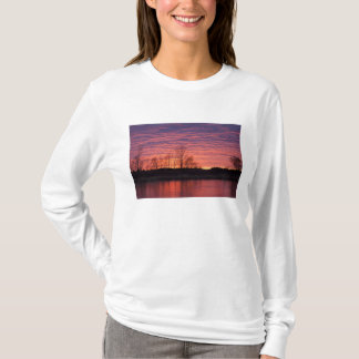 Brilliant sunset reflects into the Calamus River T-Shirt