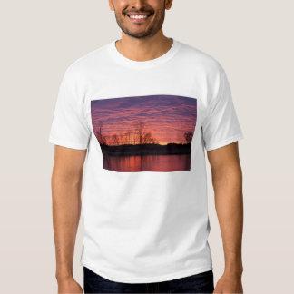 Brilliant sunset reflects into the Calamus River Tshirt