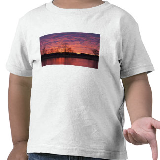 Brilliant sunset reflects into the Calamus River Tee Shirt