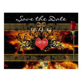 Brilliant Sunset Thru the Clouds Save the Date Postcard