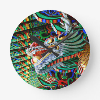 Brilliant Temple Dragon Wallclock