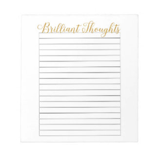 Brilliant Thoughts Notepad
