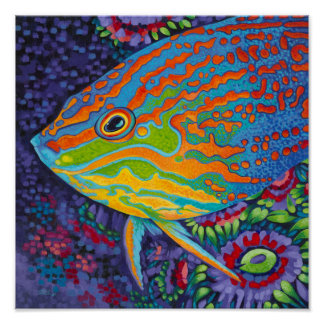 Brilliant Tropical Fish I Poster