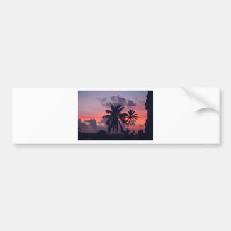 Brilliant Tropical Sunset Bumper Stickers