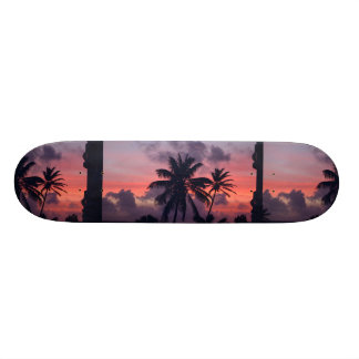 Brilliant Tropical Sunset Skate Deck