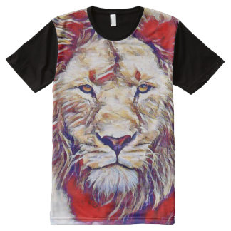 Brilliant Watercolor Lion All-Over Print T-Shirt