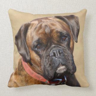 Brindle Boxer Dog Cushion