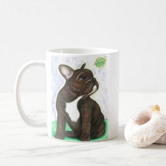 Brindle French Bulldog puppy mug