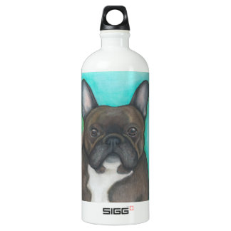 Brindle French Bulldog water bottle