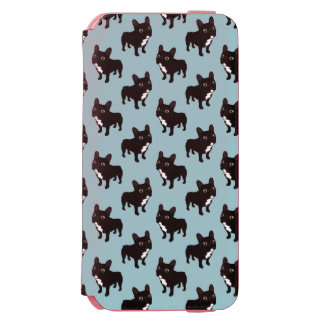 Brindle Frenchie likes to go for a walk Incipio Watson™ iPhone 6 Wallet Case