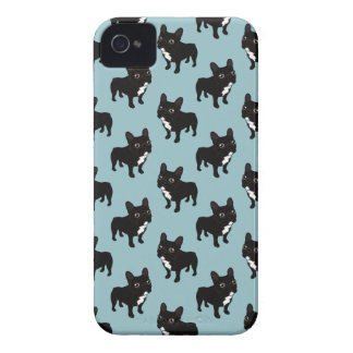 Brindle Frenchie likes to go for a walk iPhone 4 Cases