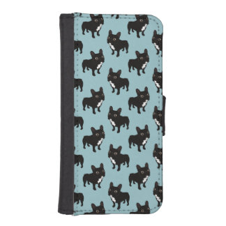 Brindle Frenchie likes to go for a walk iPhone SE/5/5s Wallet Case