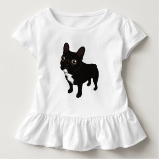 Brindle Frenchie likes to go for a walk Toddler T-Shirt