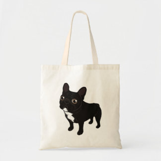 Brindle Frenchie likes to go for a walk Tote Bag