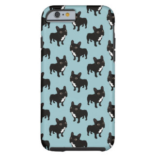 Brindle Frenchie likes to go for a walk Tough iPhone 6 Case