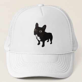 Brindle Frenchie likes to go for a walk Trucker Hat