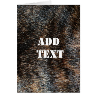 Brindle Fur Texture Camouflage Card