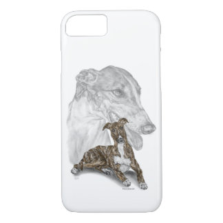 Brindle Greyhound Dog Art iPhone 8/7 Case