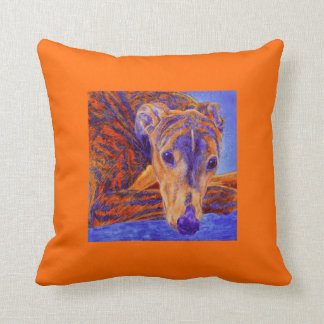 "Brindle Greyhound Pillow - ""Ace"""
