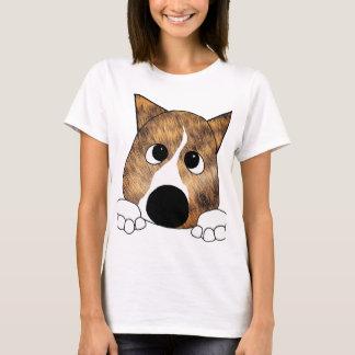 brindle peeking basenji T-Shirt