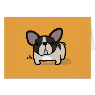 Brindle Pied Frenchie Card