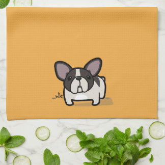 Brindle Pied Frenchie Tea Towel