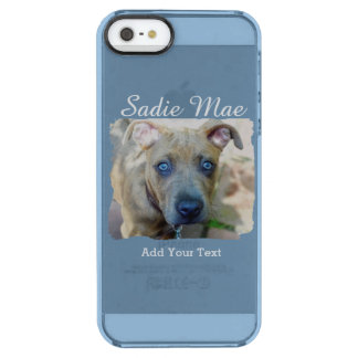 Brindle Pit Bull Puppy by Shirley Taylor Clear iPhone SE/5/5s Case