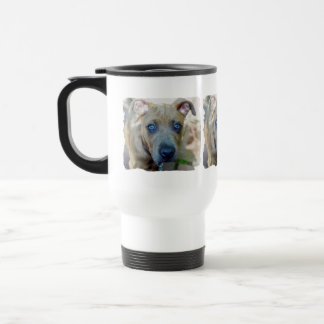 Brindle Pit Bull Puppy by Shirley Taylor Travel Mug