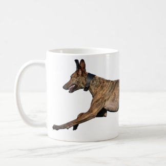 Brindled Lurcher Greyhound Coffee Mug