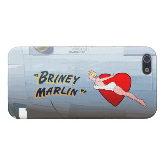 Briney Marlin B-24 Nose Art (Vintage Fuselage) iPhone 5/5S Case