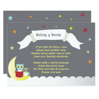 Bring a Book Baby Shower Card 9 Cm X 13 Cm Invitation Card