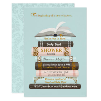 Bring a Book Baby Shower Invitation