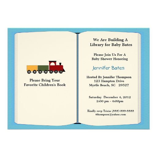 Bring A Book Baby Shower Invitations correctly perfect ideas for your invitation layout