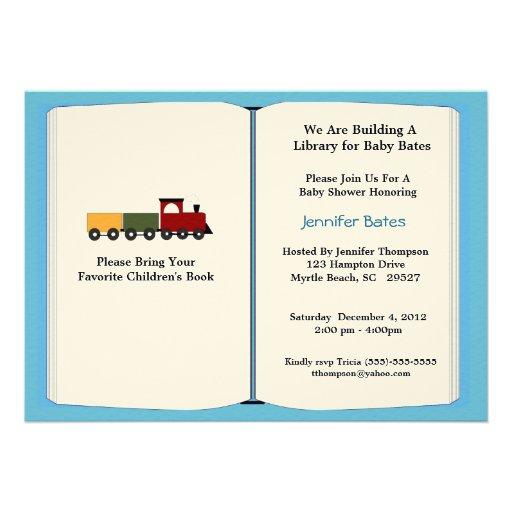 bring a book baby shower invitation 13 cm x 18 cm invitation card