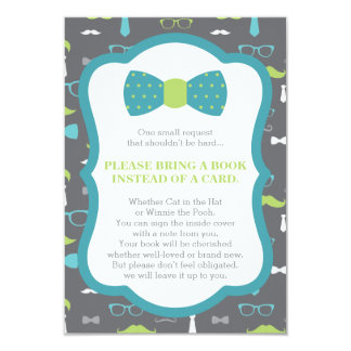 Bring A Book Card, Little Man, Baby Shower Card