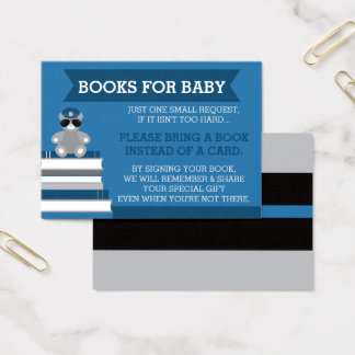 Bring A Book Card, Police Baby Shower Business Card