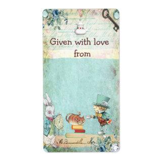 Bring a Book Mad Hatter Wonderland Bookplates Shipping Label