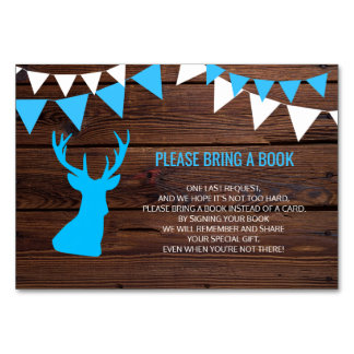 Bring a Book - Rustic Buck Deer Baby Shower Cards