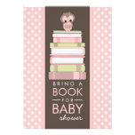 Bring A Book Sweet Girl Owl Baby Shower Invitation