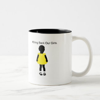 #Bring Back Our Girls. Two-Tone Coffee Mug
