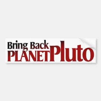 Bring Back Planet Pluto Bumper Stickers