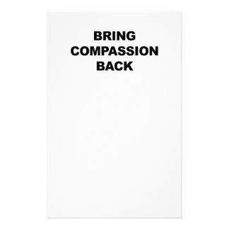 Bring Compassion Back Personalized Stationery