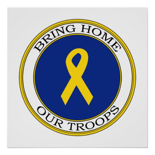 Bring Home Our Troops Ribbon Print