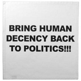 Bring Human Decency Back Napkin