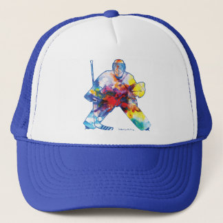 Bring It Hockey Goalie Watercolor Cap